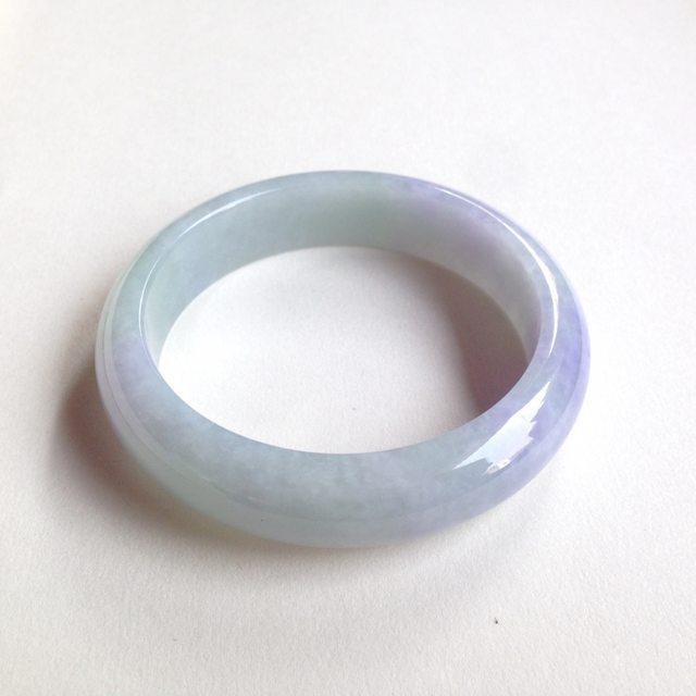 糯种春彩翡翠平安镯 正圈尺寸:58.8/14.9/8.3mm70.8g