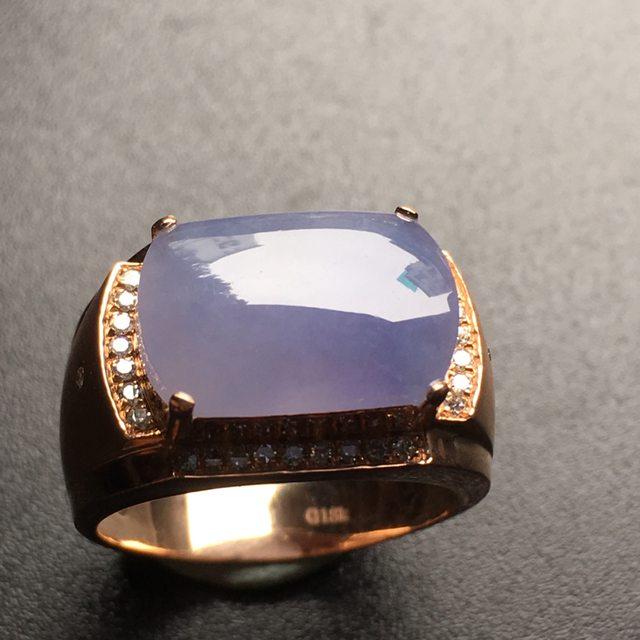 14.6*10.1*3寸紫罗兰马鞍翡翠戒指
