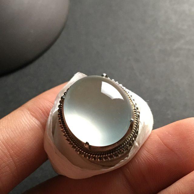 冰晴水 缅甸天然翡翠戒指