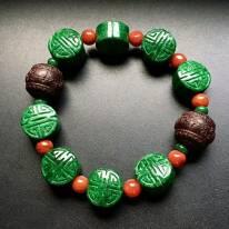 濃綠翡翠手串 單顆13-12mm
