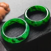 冰帝王绿 翡翠指环