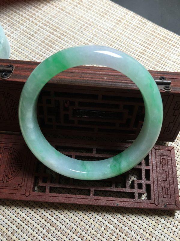 冰種陽綠正圈翡翠手鐲圖3