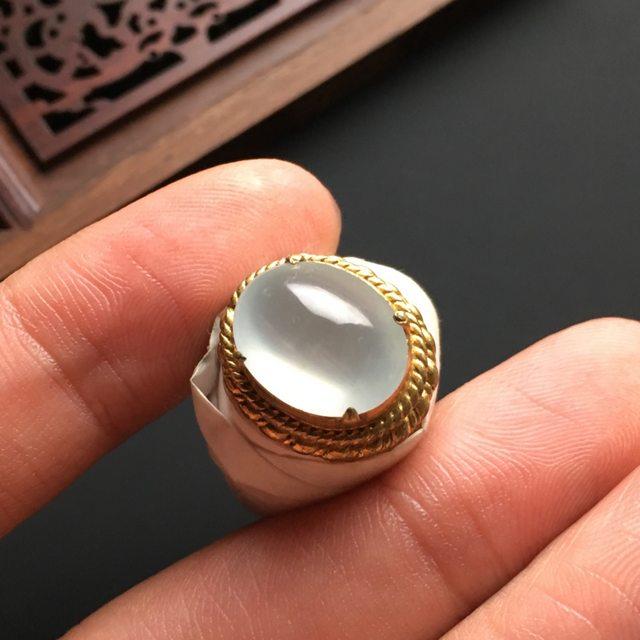 白冰晴 缅甸天然翡翠戒指