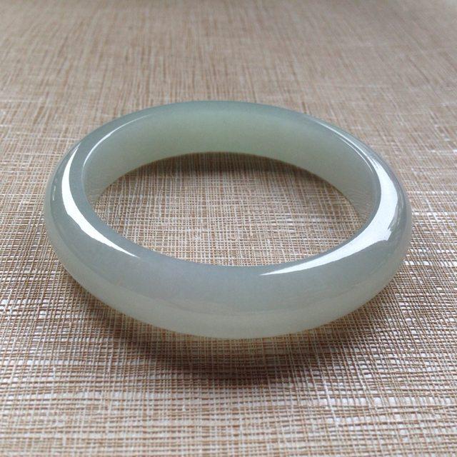 冰润清爽翡翠平安镯:56-12.5-8.5mm