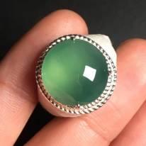 15.2-14.9-6毫米高冰晴水 緬甸天然翡翠戒指