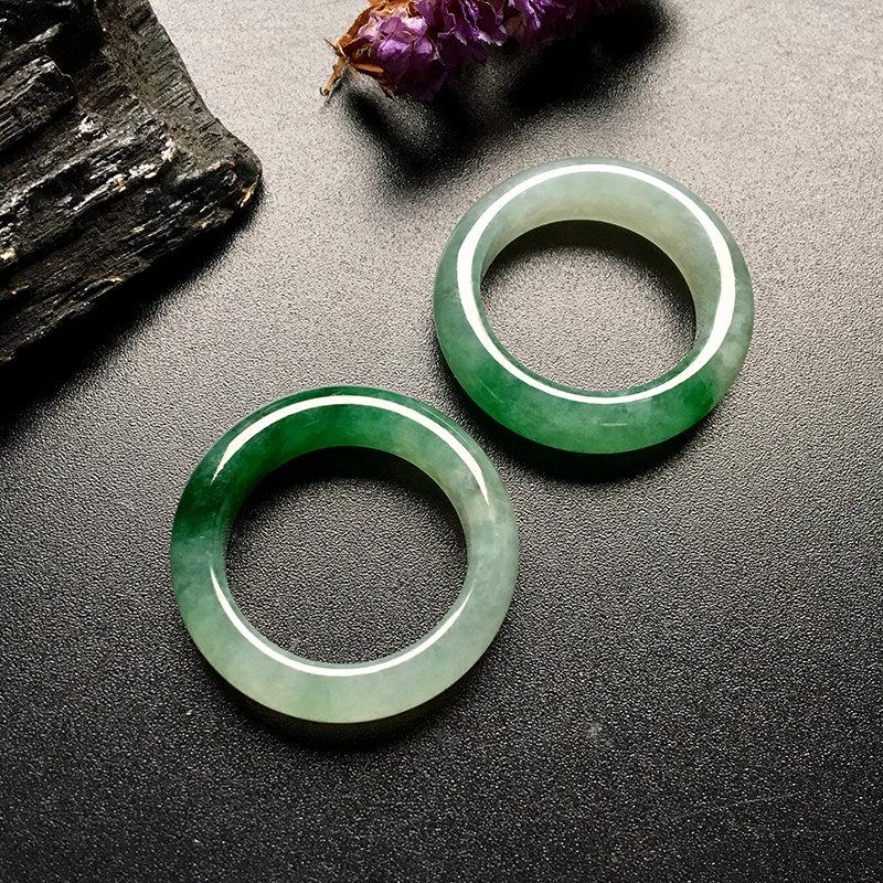 糯种飘绿 天然翡翠戒指