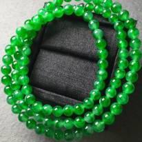 冰阳绿天然翡翠珠链4.1*51.共116粒