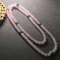 糯冰粉绿结合翡翠珠链