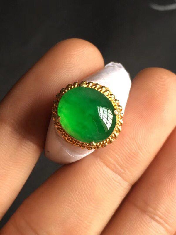 12*10.1*3.8寸高冰阳绿 翡翠戒指