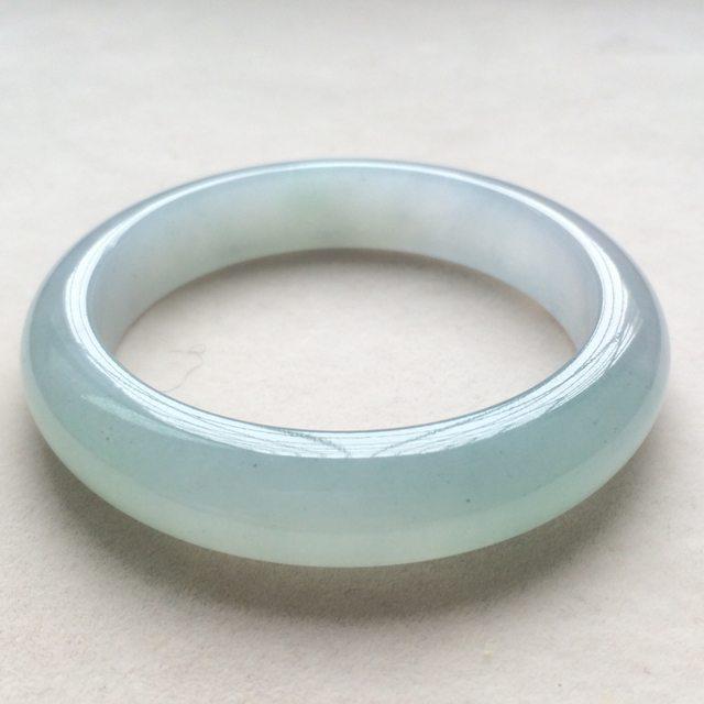 冰种晴水缅甸天然翡翠手镯  尺寸:54*12.7*8.8mm