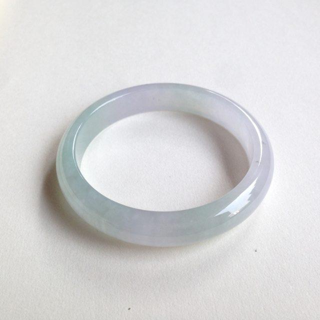 冰种春彩翡翠平安镯 正圈尺寸:57.8/11.6/6.8mm46.7g
