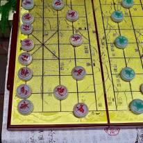 翡翠A货 老坑水润 精雕特色中国象棋一套