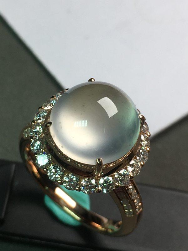 高冰晴水 18K金镶嵌钻石 完美起光