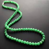糯冰种阳绿翡翠项链 90颗