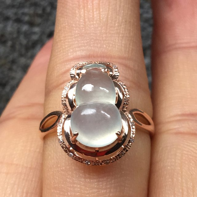 冰种晴水 缅甸天然翡翠戒指