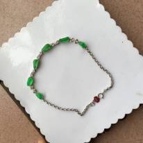 冰阳绿天然翡翠手链