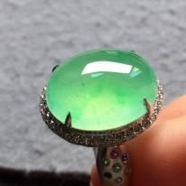 高冰果绿 缅甸天然翡翠戒指