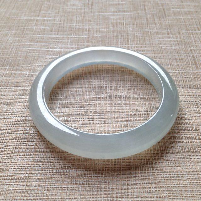 冰种晴水翡翠手镯  缅甸天然翡翠手镯  尺寸52.5