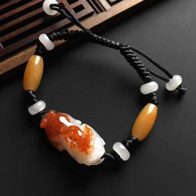 红翡貔貅手链27-14-12毫米