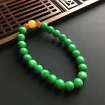 满绿佛珠手链 直径7毫米