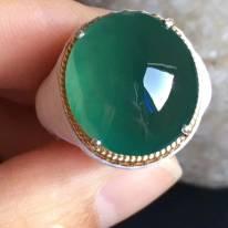 老坑冰种蓝绿色16.6-15.3-6.8mm