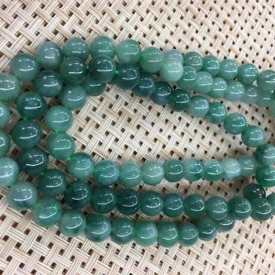 冰油种油绿玉珠翡翠项链 88颗