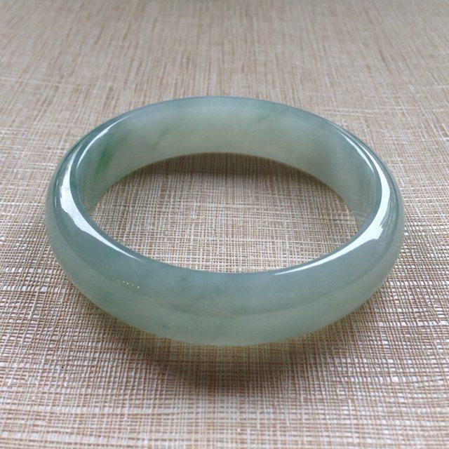 冰糯种绿水翡翠手镯:57.5-14.9-7.3mm