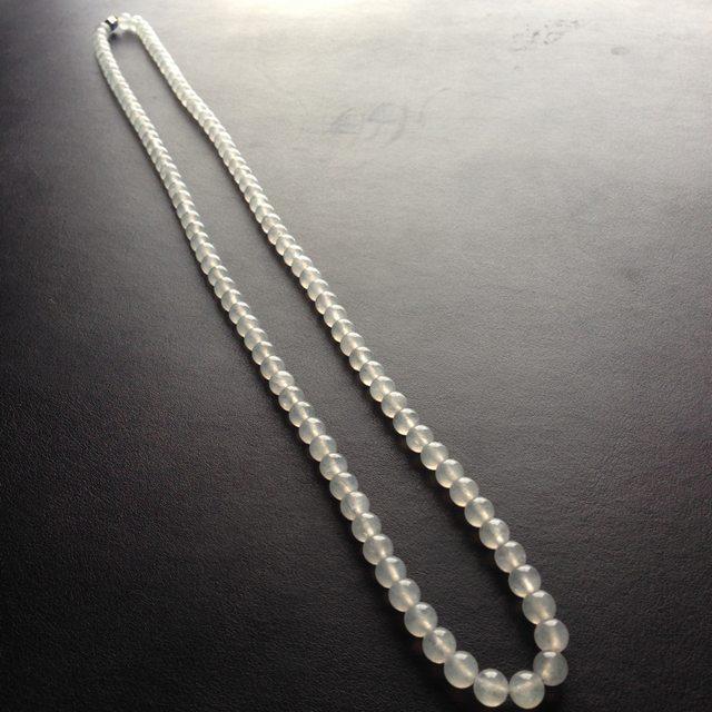 糯冰种天然翡翠项链 112颗 单颗尺寸7毫米