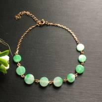 阳绿小圆扣翡翠手链6.7*2.2mm