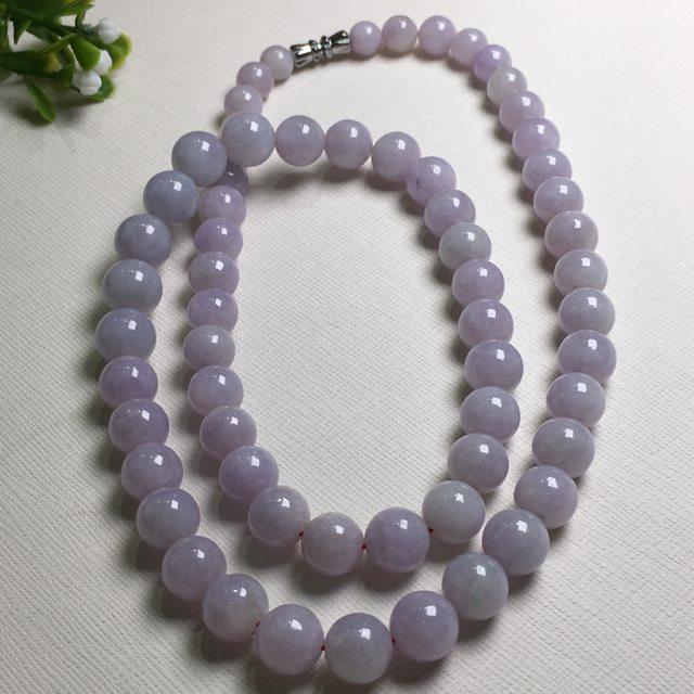 紫罗兰圆珠翡翠项链9.5*9.6mm