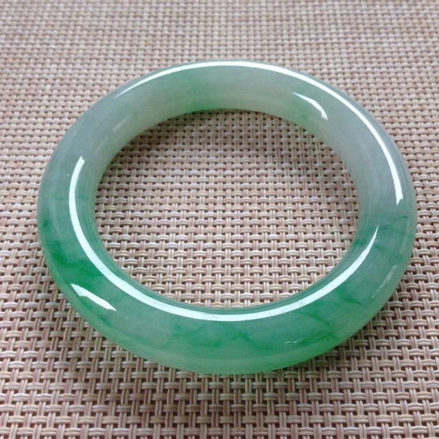冰种飘翠翡翠手镯  缅甸天然翡翠手镯  尺寸:56.8寸