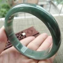A货翡翠手镯 好种满色正装手镯62.3mm