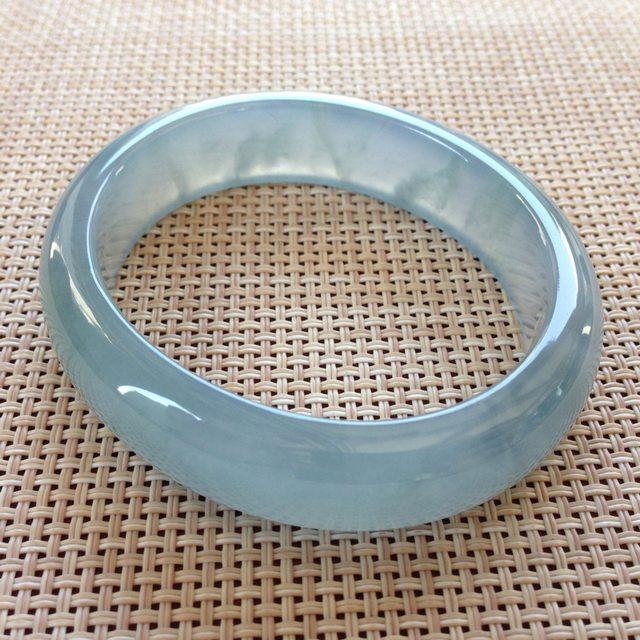 冰蓝紫翡翠贵妃手镯 尺寸 56x14.9x7.8mm 短 48.5mm