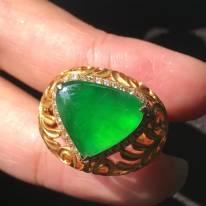 玻璃种帝王绿艳阳绿14.5122.5mm
