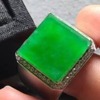 14.7*14.5*4寸冰阳绿 翡翠戒指