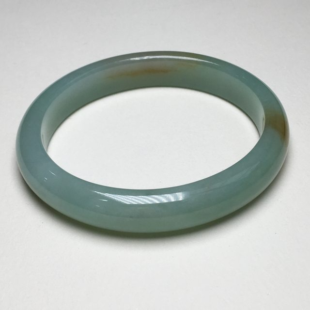 糯种蓝绿底飘黄翡贵妃手镯 56x49.3 mm