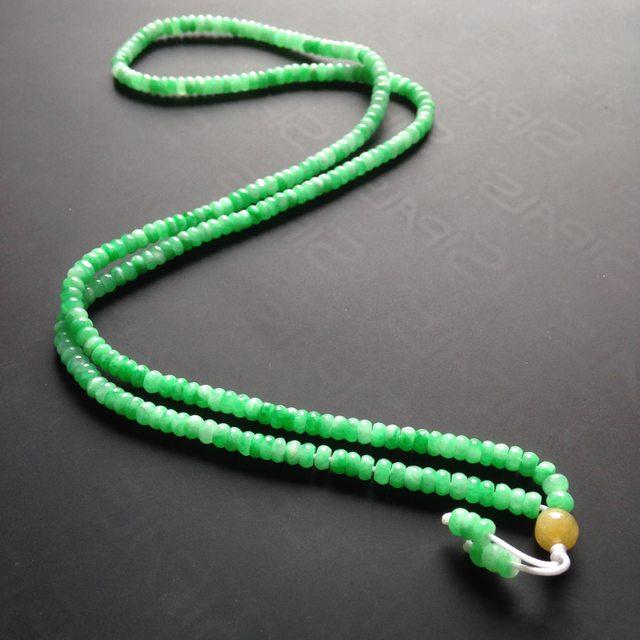 糯冰种满绿翡翠项链 154颗