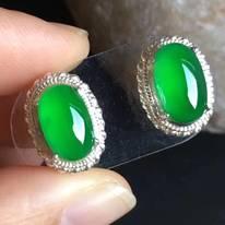 老坑冰種 緬甸天然翡翠戒指11.4-7.2-4.8mm