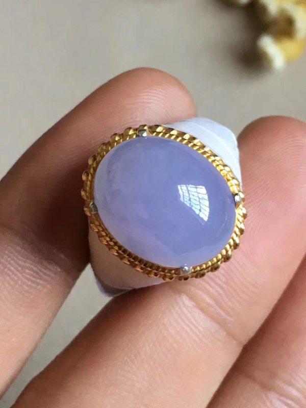 冰糯种紫罗兰15-12-6.5毫米