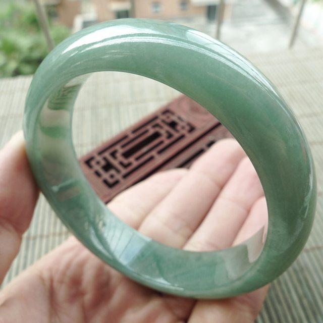 冰油满绿正装翡翠手镯58.8mm