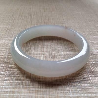 飄黃翡冰潤清爽翡翠平安鐲:56-12.6-8.2mm
