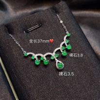 冰满绿翡翠 青翠欲滴气质锁骨链
