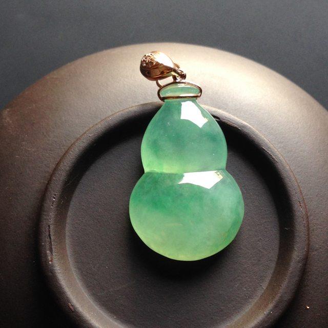 冰种晴水葫芦 翡翠挂件 尺寸28-18-7mm
