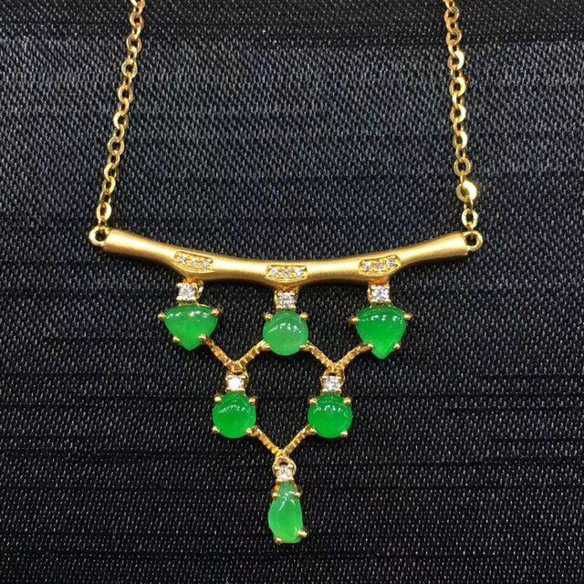 冰阳绿锁骨链取一尺寸3.6-3.7mm