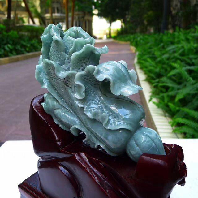 165*95*60寸蓝水翡翠白菜摆件图7