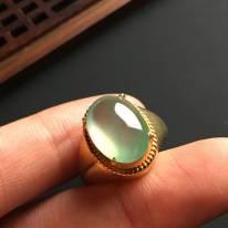 14-10-5寸冰種晴底 緬甸天然翡翠戒指