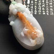 细糯种红翡貔貅翡翠手把件