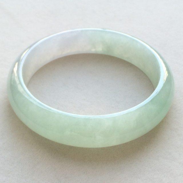 冰润晴水翡翠手镯  缅甸天然翡翠正圈手镯  尺寸:57寸