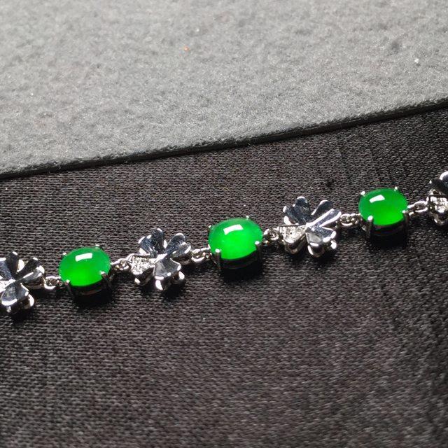 冰阳绿翡翠手链 5.4*4.7*3图2