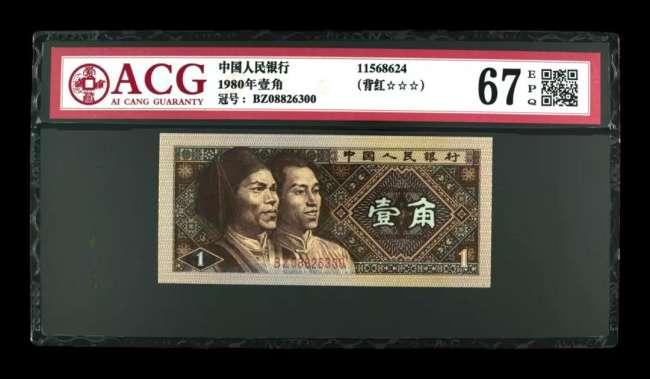 1980年1角人民币